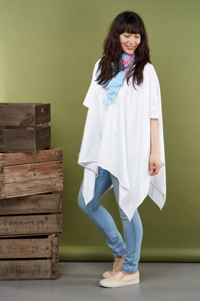 Made In Italy Arch Hem Tunic Top