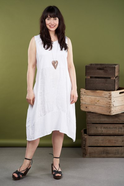 Made In Italy Cotton/Linen Mix Dress