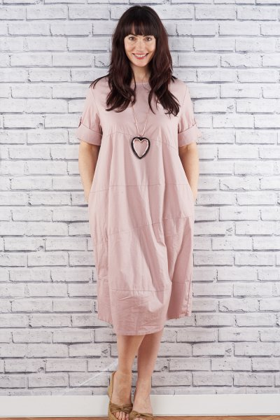 Made In Italy Cotton Panel Dress