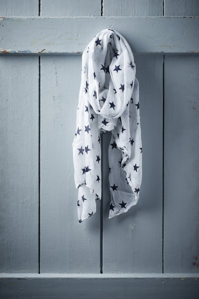 Belle Love Italy Small Star Print Silk Mix Scarves