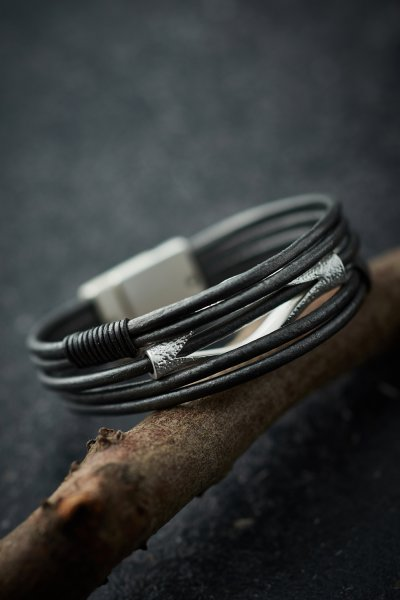 Belle Love Multi-Strand Leather Bracelet