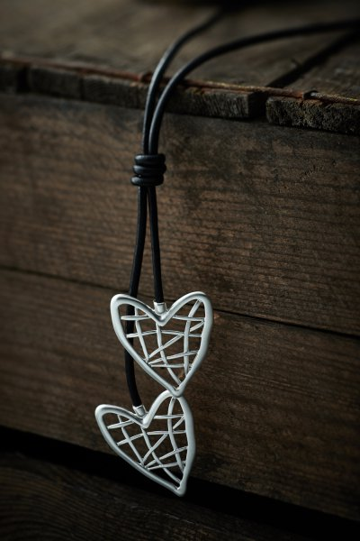 Belle Love Lattice Effect Heart Necklace