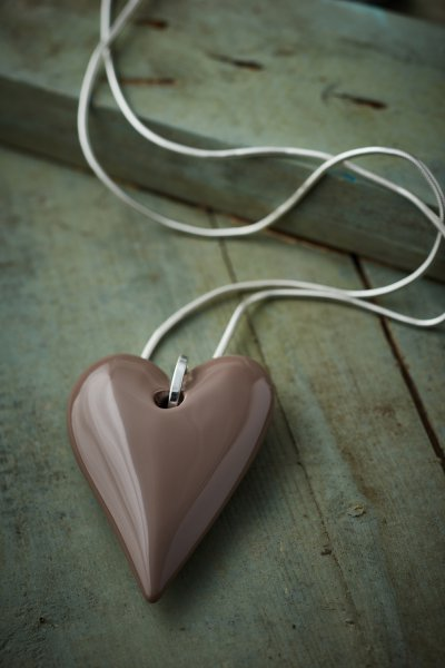 Belle Love Resin Heart Necklace
