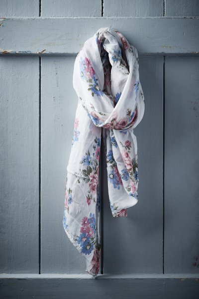 Belle Love Italy Elegant Flower Print Silk Mix Scarves