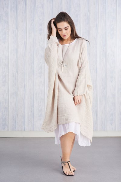 Belle Love Italy Oversized Two-Piece Linen Dress