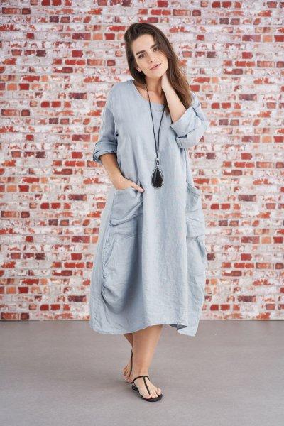 Belle Love Italy Classic Linen Dress