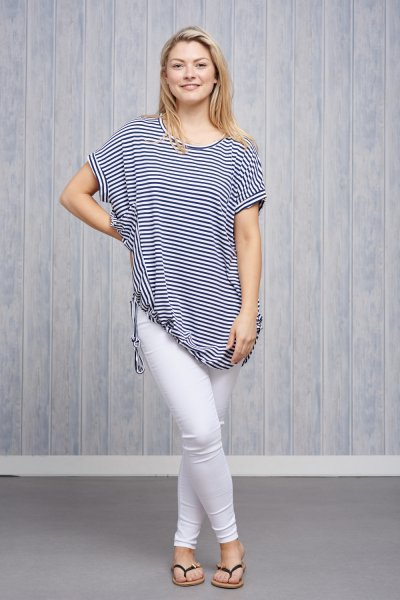 Made In Italy Jersey Stripe Top