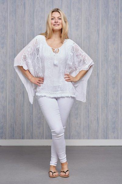 Belle Love Italy Silk Crochet Top