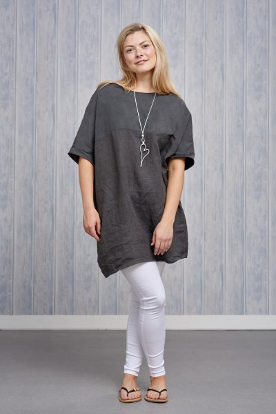 Belle Love Italy Linen Tunic Top
