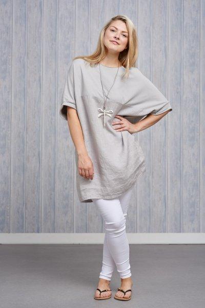 Belle Love Italy Linen Tunic Top