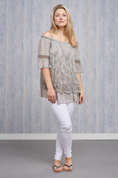 Belle Love Italy Silk Mix Top