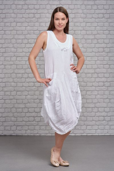 Belle Love Italy Butterfly Linen Dress