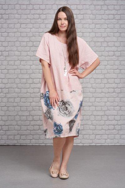 Belle Love Italy Linen Print Dress
