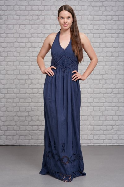 Belle Love Italy Halter Neck Diamond Maxi Dress