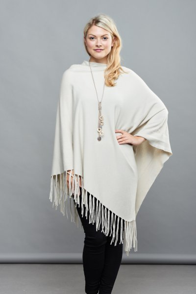 Belle Love Italy Super Soft Asymmetric Poncho
