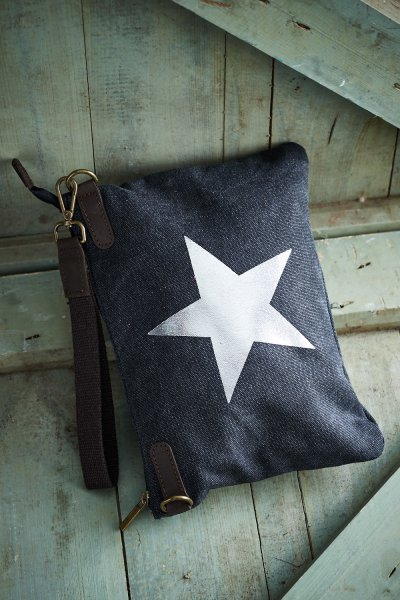 Belle Love Italy Canvas Star Clutch Bag