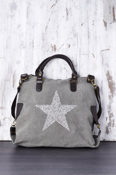 Belle Love Italy Luxury Star Canvas Style Bag