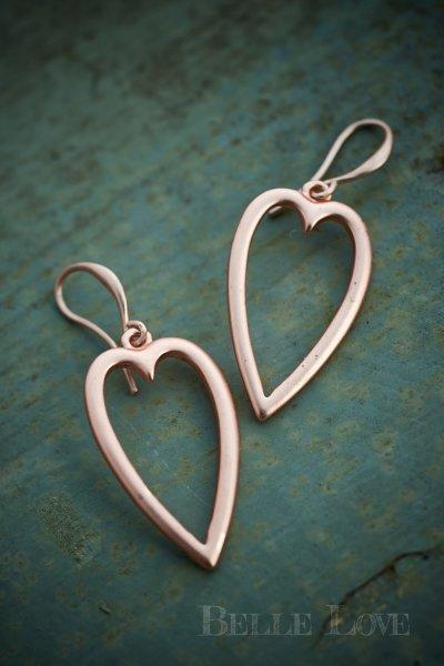 Belle Love Italy Open Heart Earrings