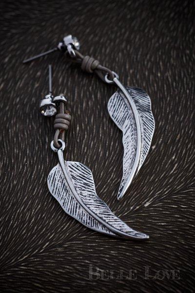 Belle Love Italy Silver Leaf Earrings