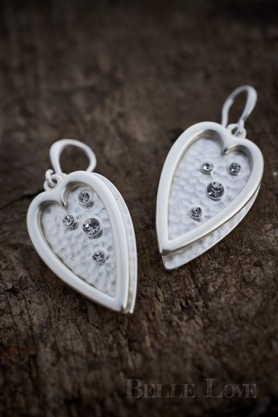 Belle Love Italy Diamond Heart Earrings