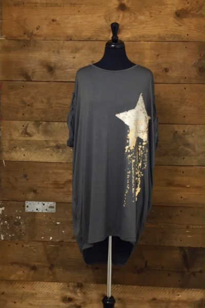 Belle Love Italy Short Sleeve Sequin Tunic