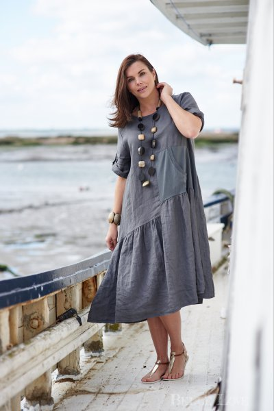 Belle Love Italy Side Pocket Linen Dress
