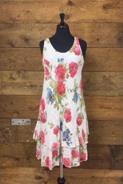 Belle Love Italy Flower Print Dress