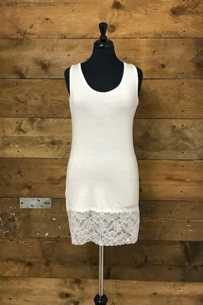 Belle Love Italy Lace Detail Jersey Vest Top