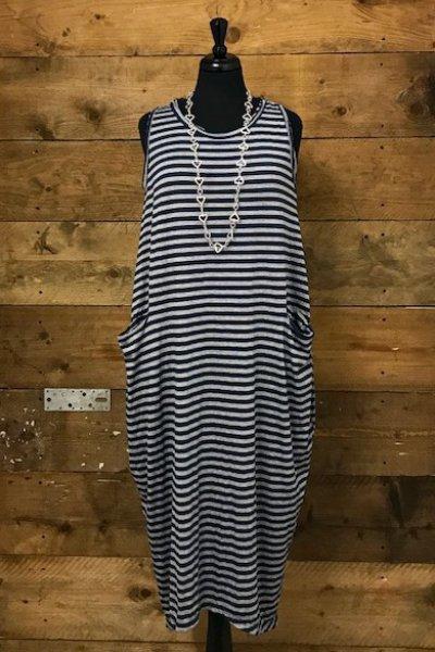 Belle Love Italy Raw Edge Stripe Long Dress