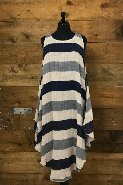 Belle Love Italy Lightweight Two-Piece Stripe Dress