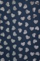 Belle Love Italy Foil Sketch Hearts Scarf