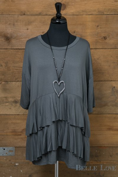 Belle Love Italy Ruffle Layer Top
