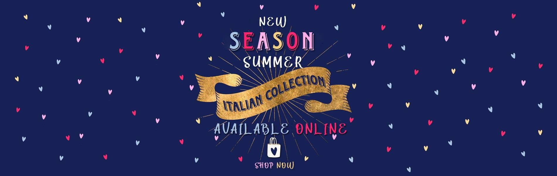 New season summer Italian collection
