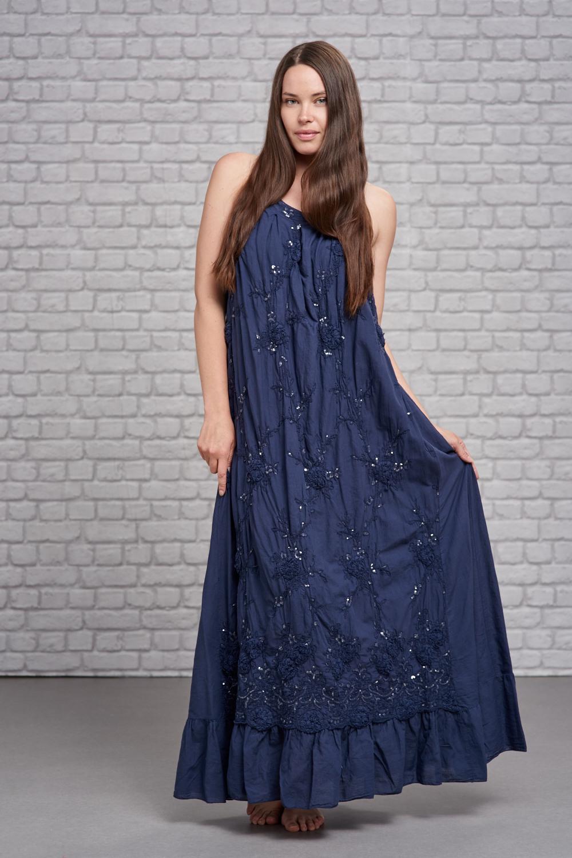 Belle Love Italy Halter Neck Sparkle Maxi Dress