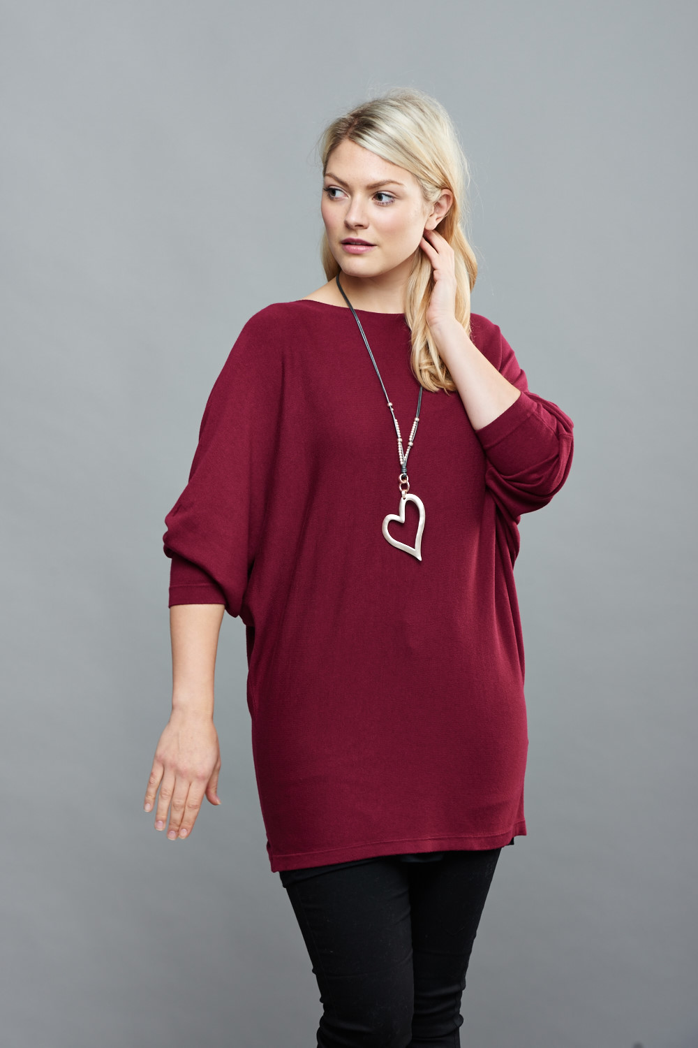Belle Love Italy Button Back Jumper