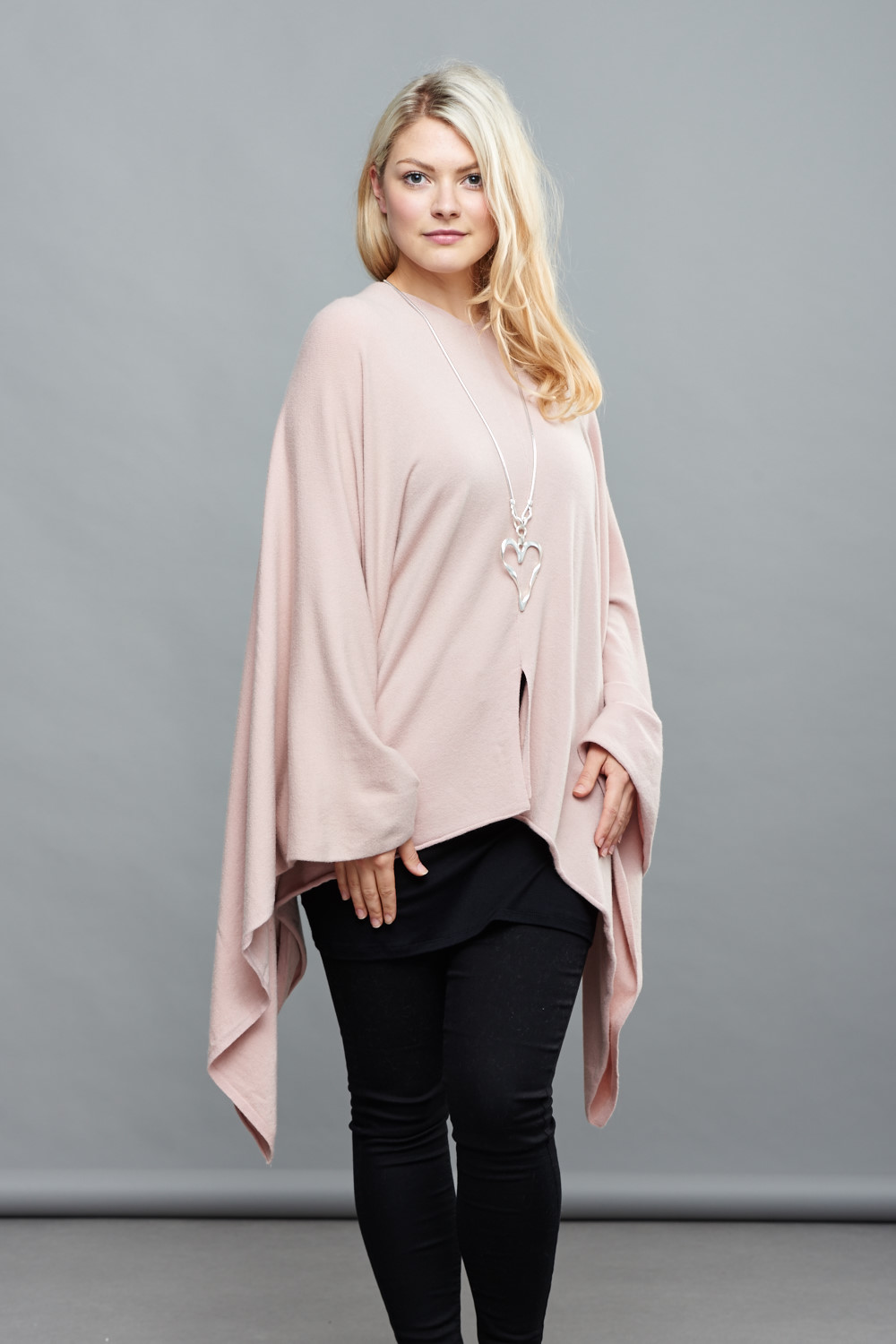 Belle Love Italy Bat Wing Asymmetric Poncho
