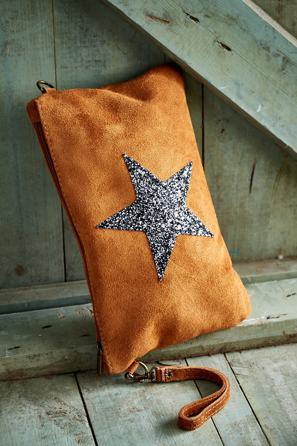 Belle Love Italy Suede Star Bag