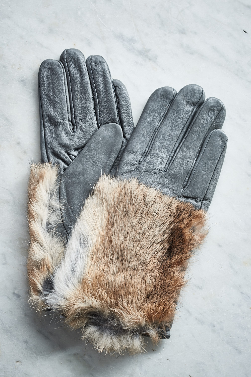 Belle Love Italy Fur Leather Gloves