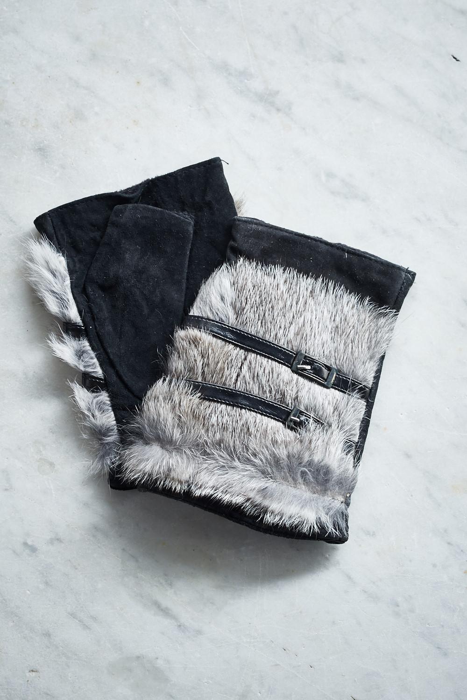 Belle Love Italy Fingerless Fur Mittens