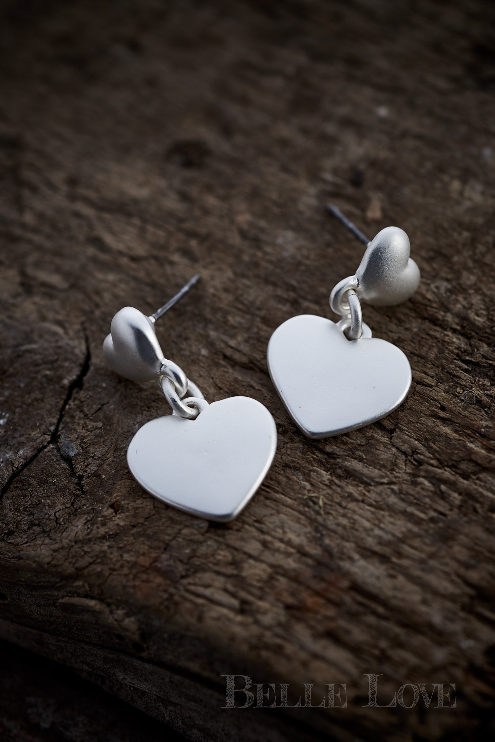 Belle Love Italy Silver Heart Earrings