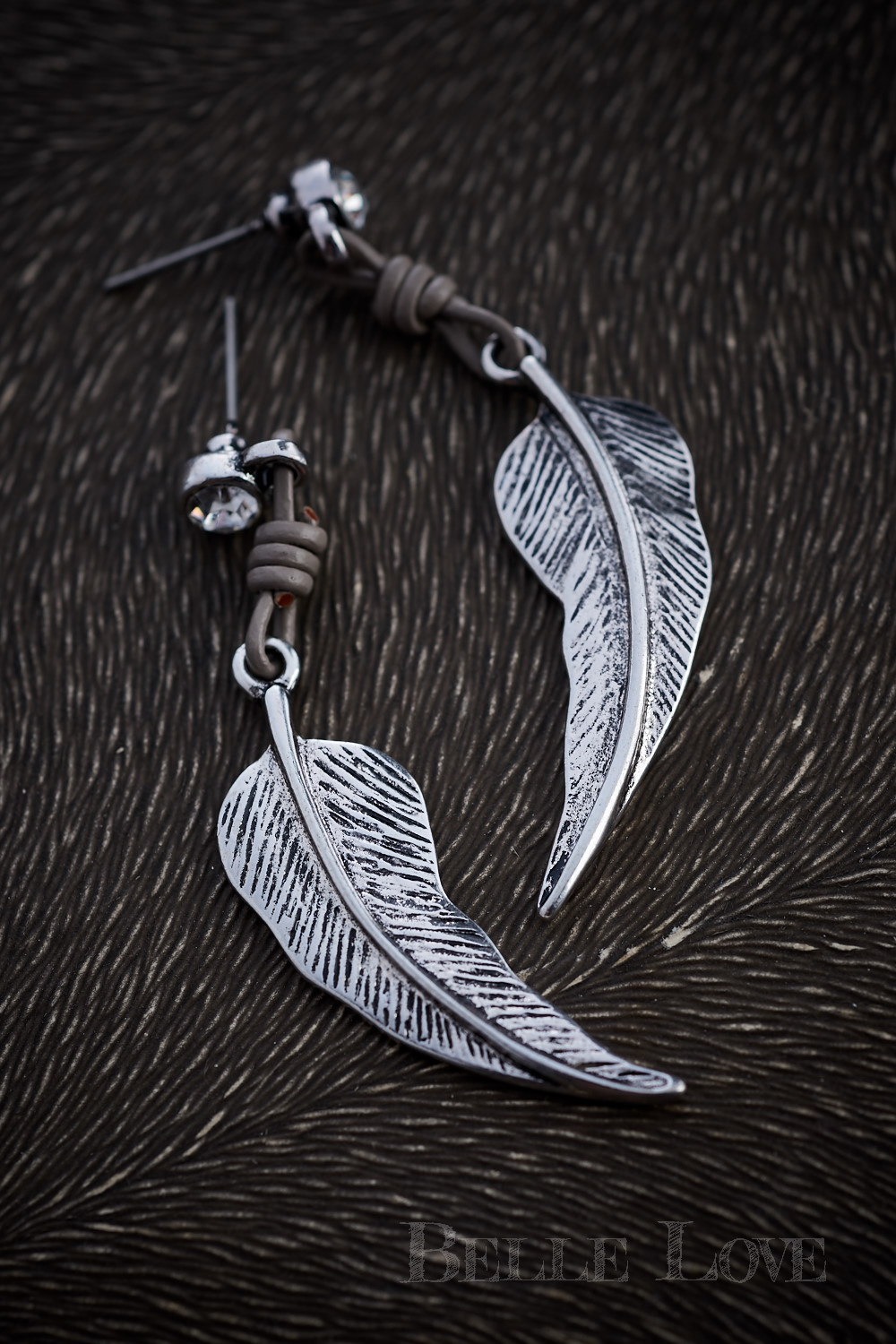 Belle Love Italy Silver Leaf Earrings