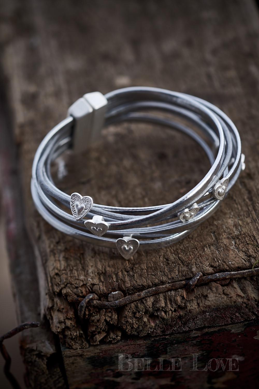 Belle Love Italy Silver Tiny Heart Bracelet