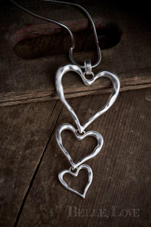 Belle Love Italy Trio Of Hearts Necklace