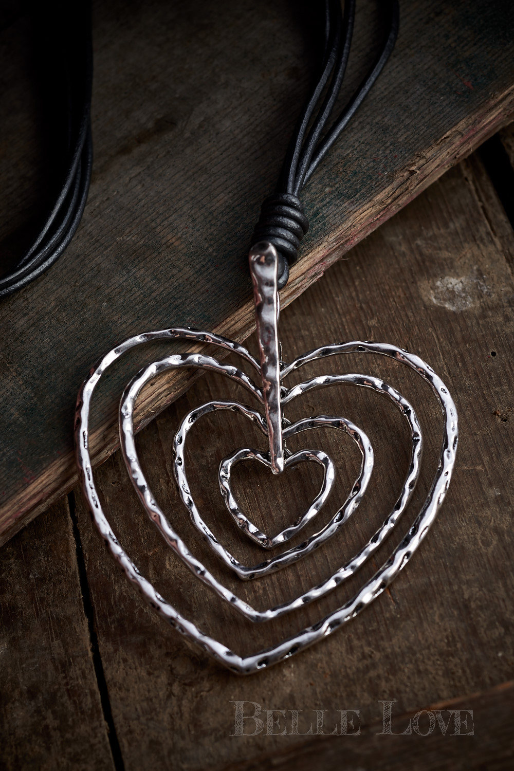 Belle Love Italy Multi-Heart Necklace