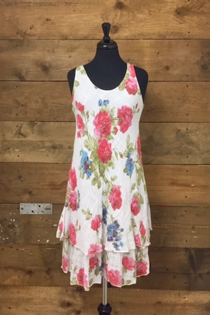 Belle Love Italy Flower Print Dress