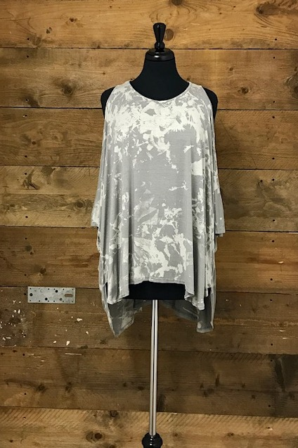 Belle love Italy Cold Shoulder Marble Print Top