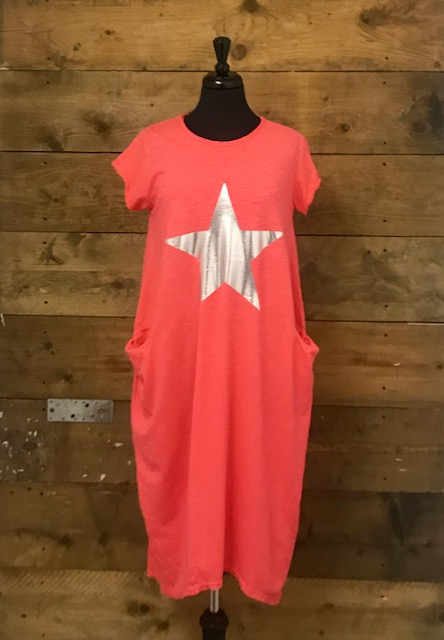 Belle Love Italy Raw Edge Star Dress