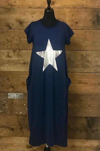Belle Love Italy Raw Edge Star Dress