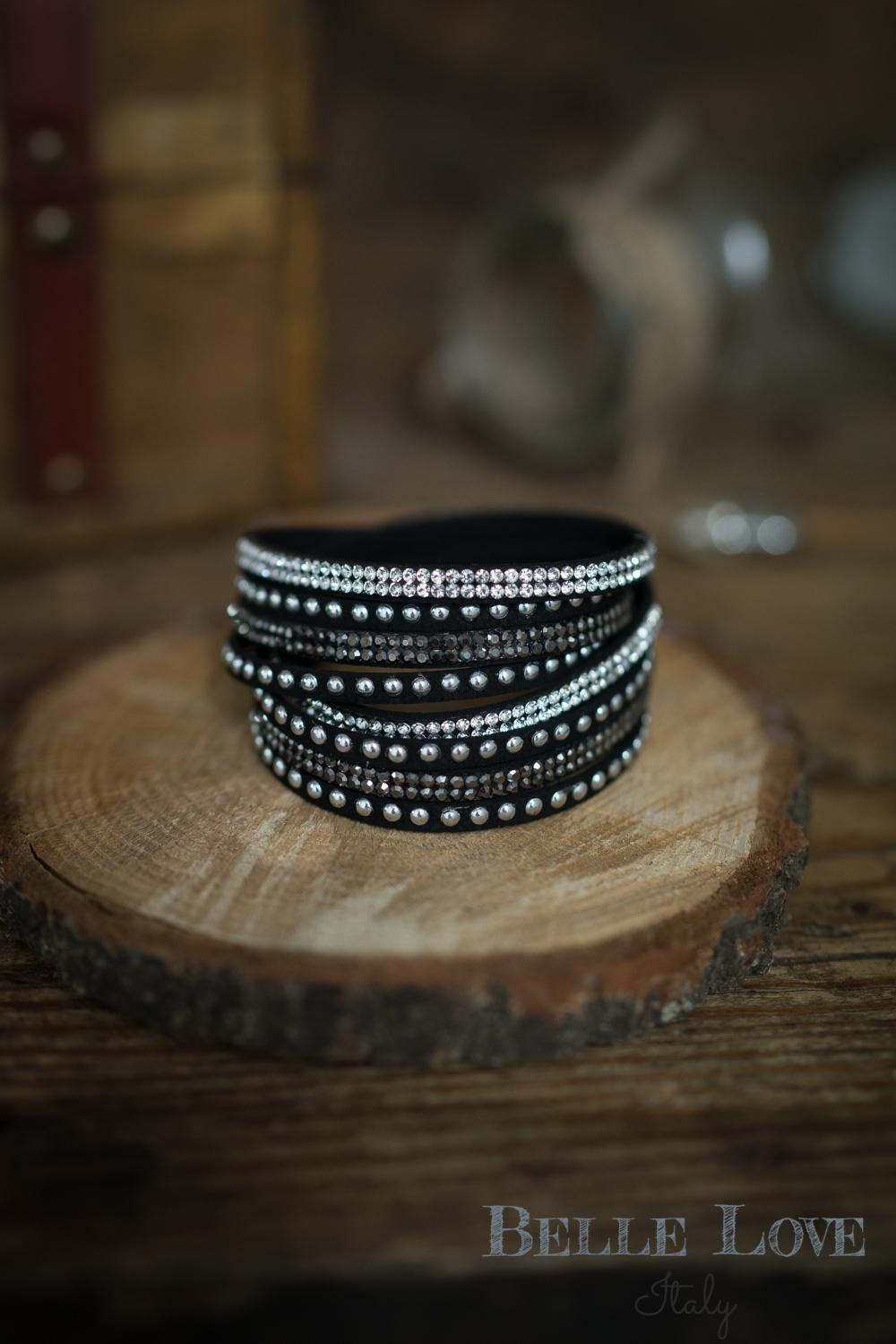 Belle Love Italy Diamante Embellished Bracelet