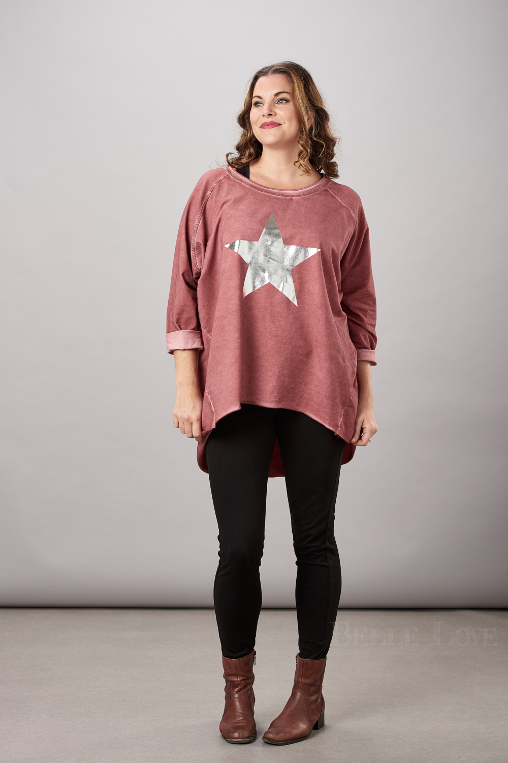 Belle Love Italy Silver Star Top